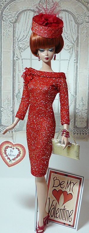 valentine barbie be my valentine use to play with old barbies when i was little