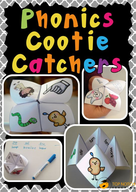 Cootie catchers (or chatterboxes / fortune tellers) are a fun way of combining a popular children's game with some practice in reading and spelling words that have a particular phonics focus. This pack includes 26 different cootie catchers. $