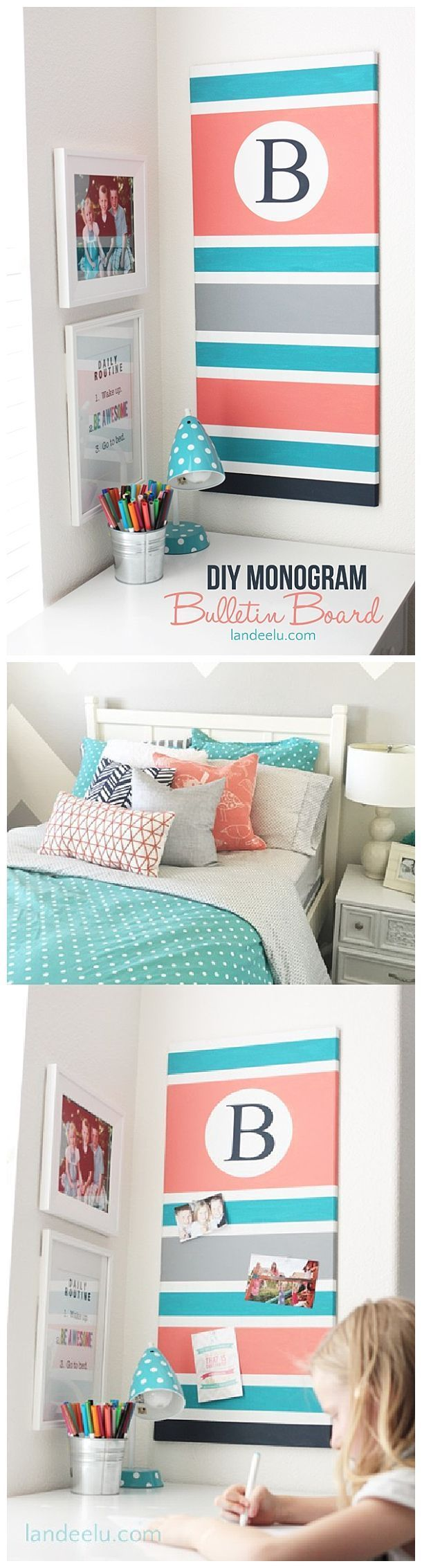 595 best easy diy and craft projects images on pinterest craft diy monogram bulletin board solutioingenieria Image collections