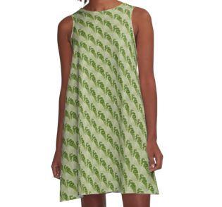 A-Line Dress.  #fern #maidenhair fern #fernart  #fernfrond #fernleaves #fernmacro #macro #sandrafoster