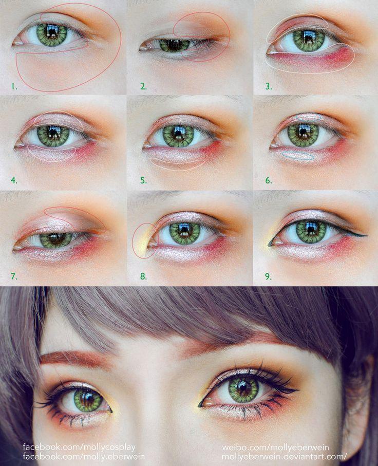 Girly / Dolly eyes makeup tutorial by mollyeberwein.deviantart.com on @DeviantArt