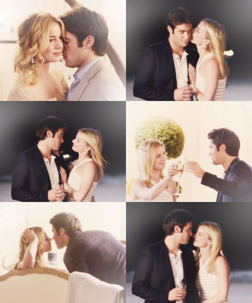 Demily (Revenge, Season 1) I wanted them to be together properly so much but he stopped that from happening
