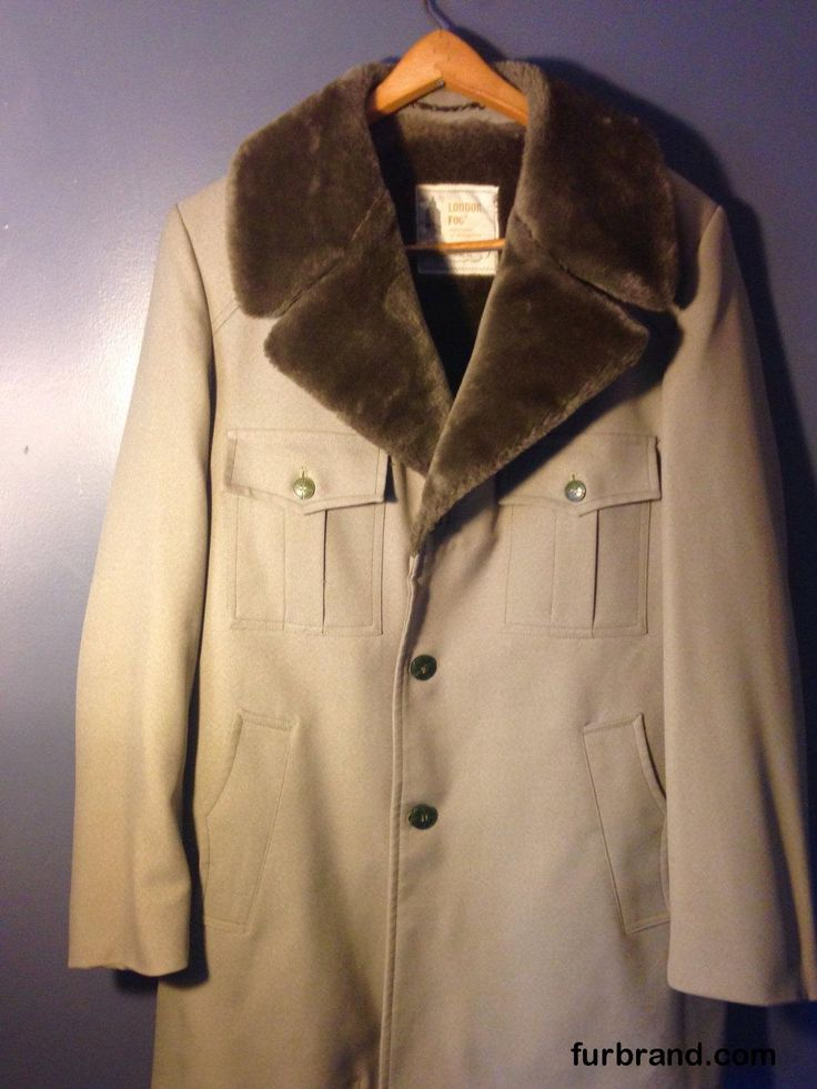 Vintage London Fog Men's 42L Mid-Length Faux Fur Lined Overcoat Trenchcoat- Men's Winter Coat - http://furbrand.com/vintage-london-fog-mens-42l-mid-length-faux-fur-lined-overcoat-trenchcoat-mens-winter-coat