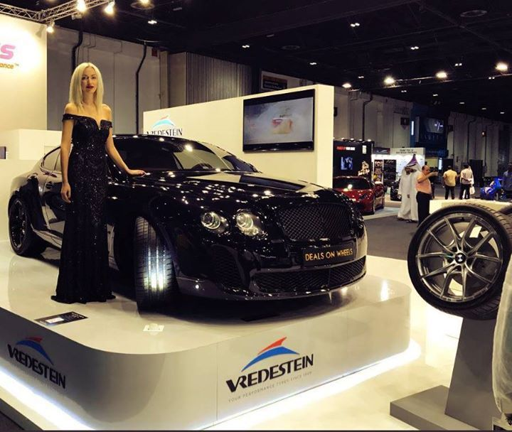 Our Koenigsegg & Bentley Supersport at the Vredestein Stand (Manufacturers of Performance Tyres since 1909) at the 2017 Dubai International Motor Show @dxbmotorshow #vredestein #rocktheroad #dubaimotorshow #DEALSONWHEELS