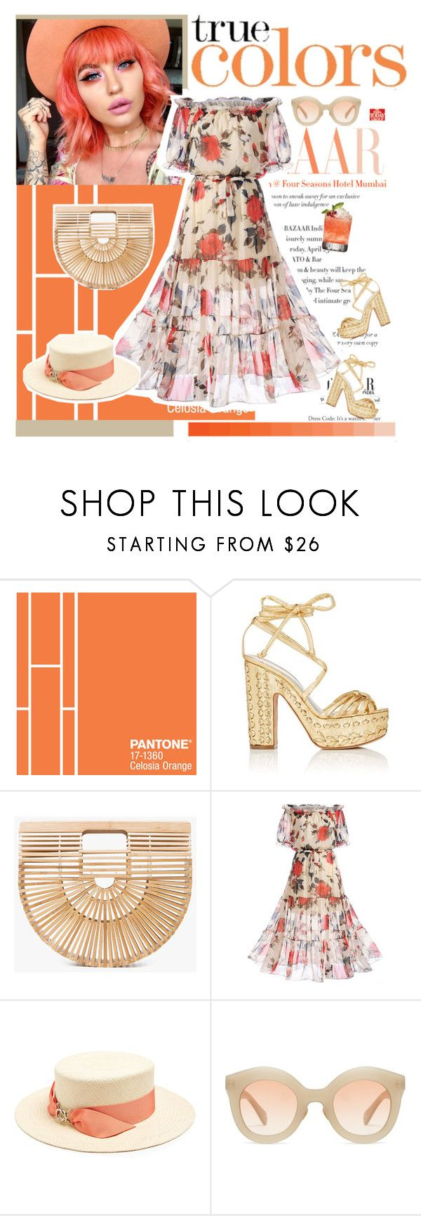 """""""Garden Party"""" by style-stories ❤ liked on Polyvore featuring Alchimia Di Ballin, Cult Gaia, WithChic, Federica Moretti and Kaleos"""