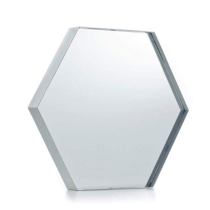 Home Republic Maya Hexagon Mirror White, $29.95