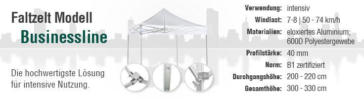 Businessline #Faltzelte: Die hochwertigsten unter den Zelten.