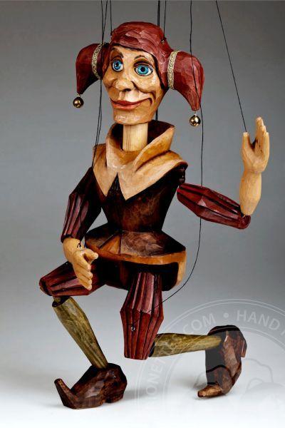 Czech Marionettes   Jester Marionette Puppet