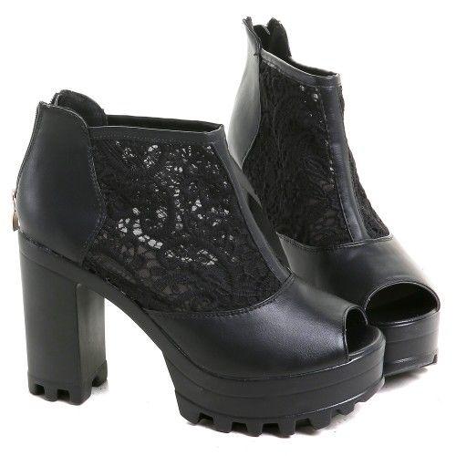 Zapatos Góticos con Guipur | Crazyinlove España