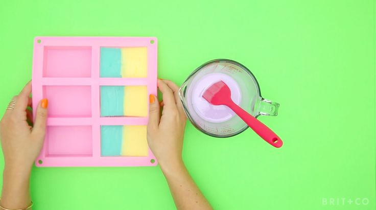 How to Make Color-Blocked Soap