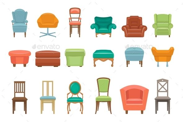 Collection Of Different Types Of Seating Chair Shabby Chic
