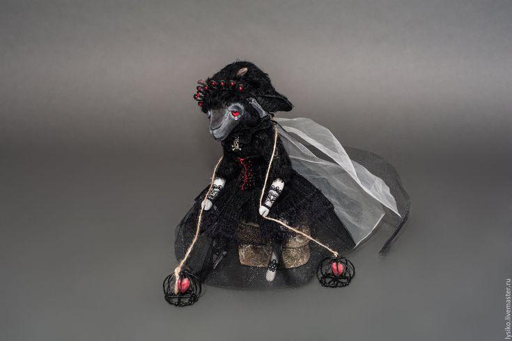Купить Черная Невеста (Козлик, друзья тедди) - черный, коза, козлик, козлик тедди
