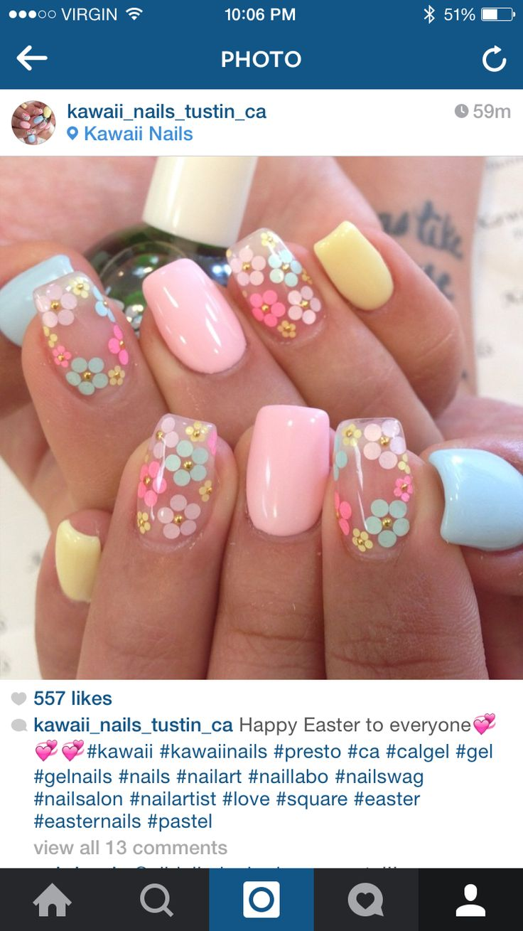 I love these floral negative space nails!