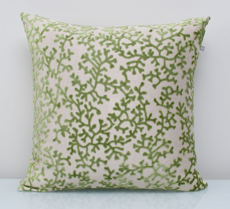 Green Pillow available at threadsandmore.ca A plush pillow in foliage-based green that conjures up our desire to connect to nature. Inspired by the 2017 Pantone colour of the year - Greenery. FREE customization available