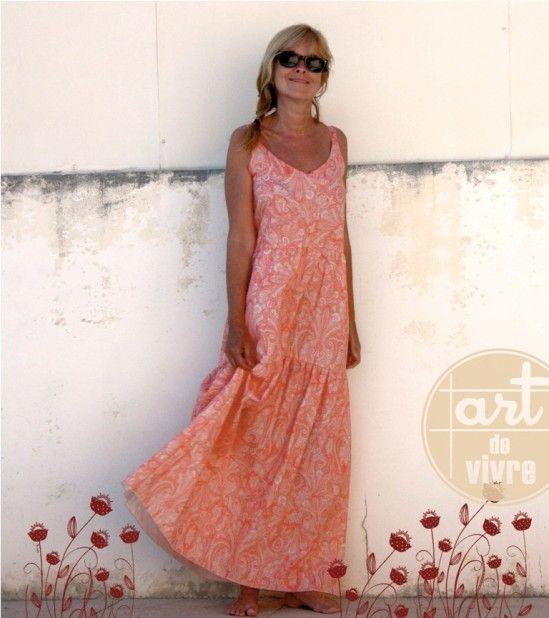 Comment faire une robe droite longue