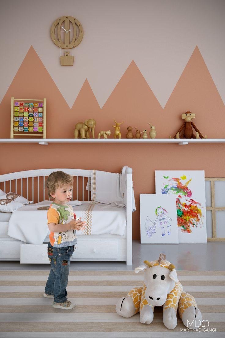 #interior #bedroom #kids -Rendering: Cinema 4D + Vray Post-produzione: Photoshop