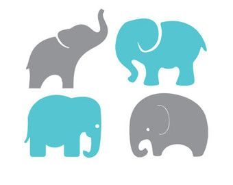 baby elephants set svg dxf file instant download stencil silhouette cameo cricut…