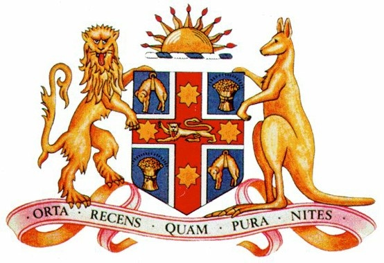Coat of Arms of New South Wales   #NSW #Australia #heraldry
