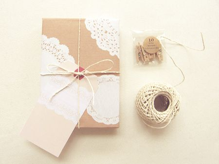 wrapping.  Love this for xmas presents with red twine.