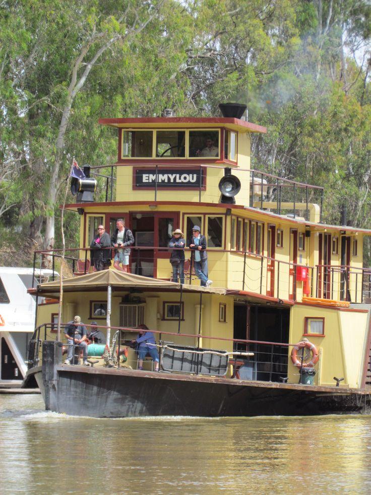 Houseboat on Murray River, Victoria, Australia