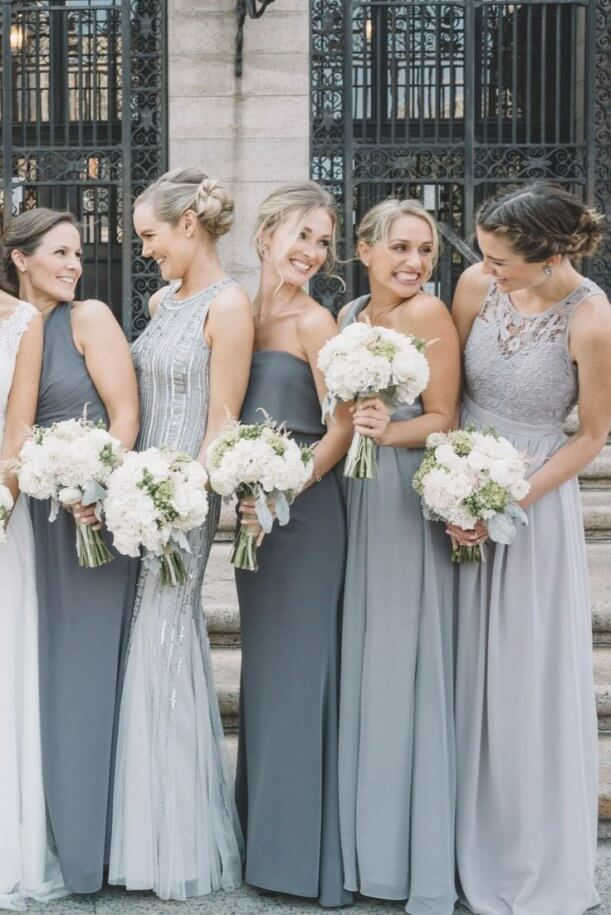 Best 30 Red Black And White Wedding Bridesmaid Dresses
