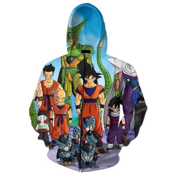 Dbz Cell Games Saga Heroes Characters Zip Up Hoodie Cell Games Dbz Mobile Legend Wallpaper