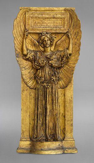 "Augustus Saint-Gaudens: ""Amor Caritas"", Bronze, 1918"