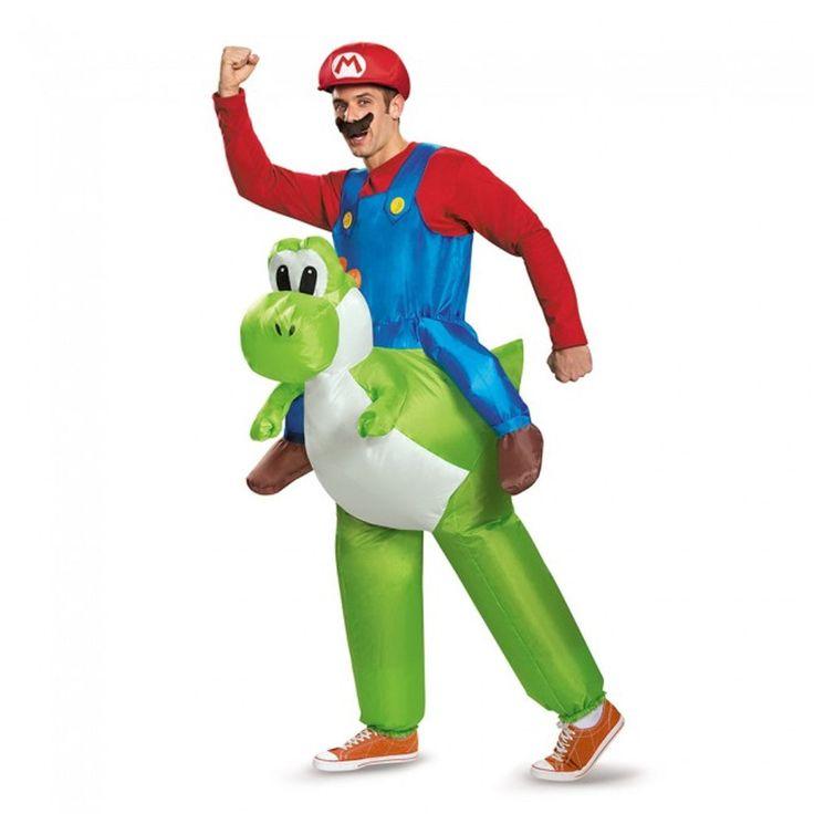 Mario Riding Yoshi Inflatable Adult Super Mario Bros Costume