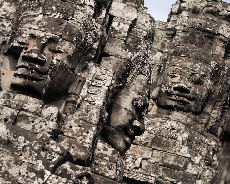 Angkor Thom Bayon Faces in Cambodia by Nadbrad Photography at www.nadbrad.com