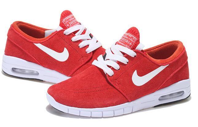 New Nike SB Stefan Janoski Max Mann Schuhe Weiß Rot Zu Verkaufen für Nike Frei Schuhe Bestellen