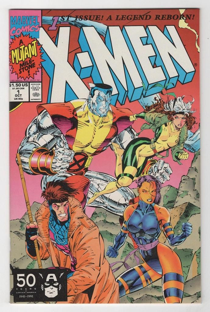 X Men 1 Jim Lee Variant Cover 1991 Marvel Comics Covers Marvel Comic Books Comic Book Covers