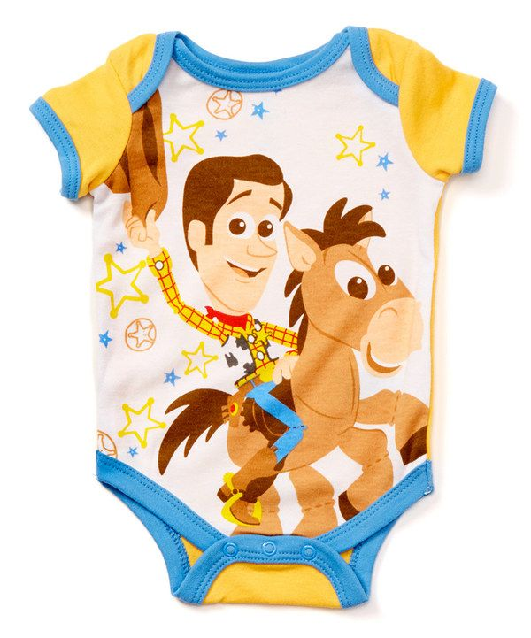 Look at this Disney Toy Story Yellow Bodysuit - Infant on #zulily today!