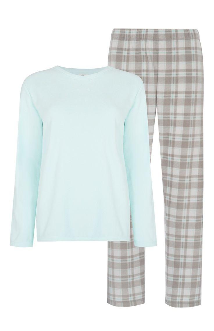 Pyjama à carreaux menthe