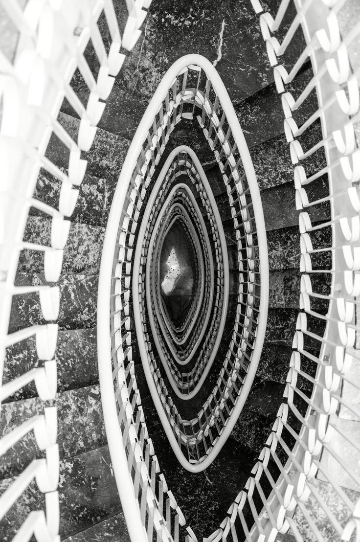 Staircase Grand Hotel Riviera Sorrento Italy