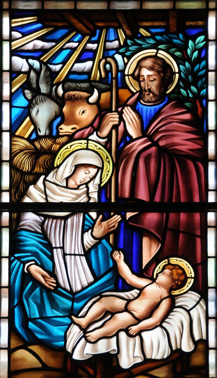 catholic mass stained glass nativity - Google Search
