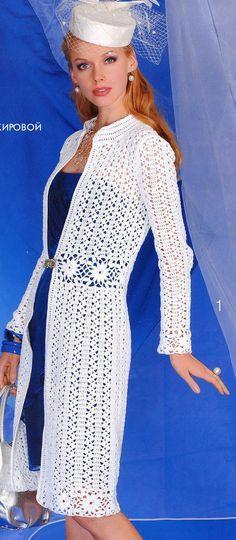 Las mujeres elegantes del ganchillo cardigan largo capa por AsDidy