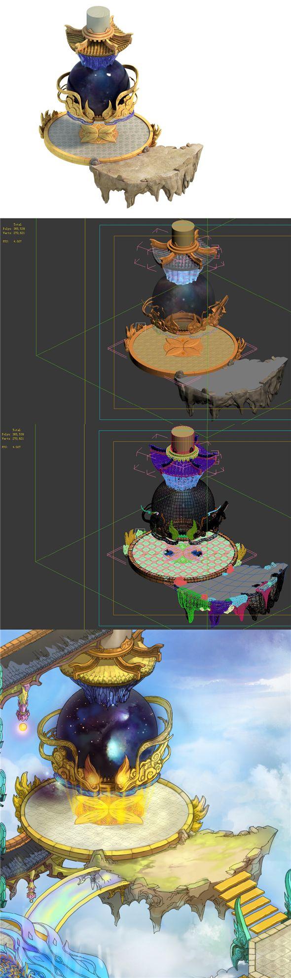 Game Model Bi La City Royal Palace Partial 02. 3D