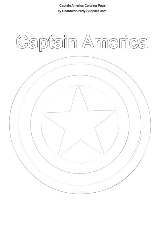 Captain america shield coloring pages captain america for Captain america shield coloring page
