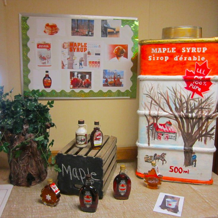 Absolutely love this Maple Syrup Display Work at Hudson Manor, crafted from an old suitcase! #verveseniorliving