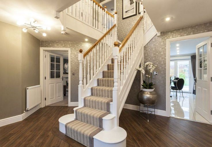 David Wilson Homes - The Oaks (Kidderminster) Interior Designed Hallway. It's a magnificent beast of a hallway.. this is a very beautiful new build (but I'd expect that for the over half a million price tag)