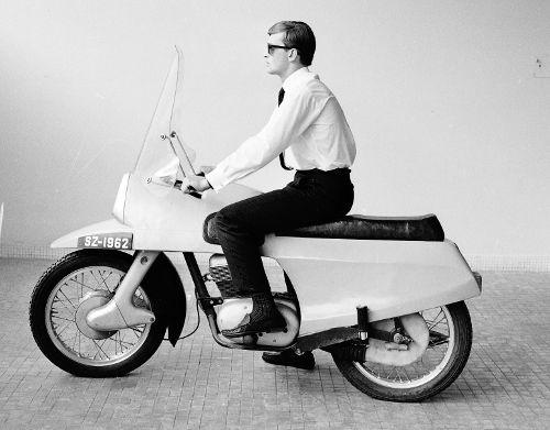 Józef Kandefer - modernized motorcycle Junak M 14 (1962 - 1963)