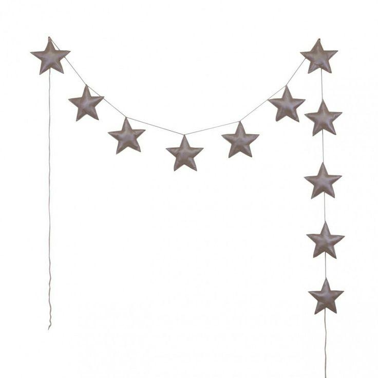 NUMERO 74 GARLAND IRIDESCENT PADDED STAR PINK