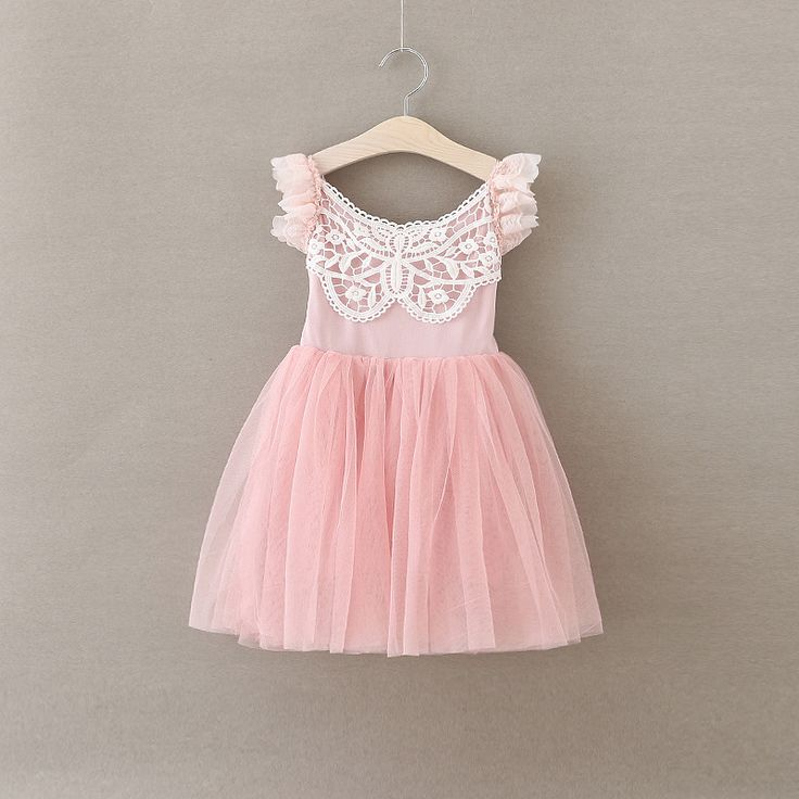 EMS DHL Free Shipping toddler's Little Girl's Leap Sleeve Princess Party Dress Sequin Pink Cute Holdiday Dress Gauze Dress