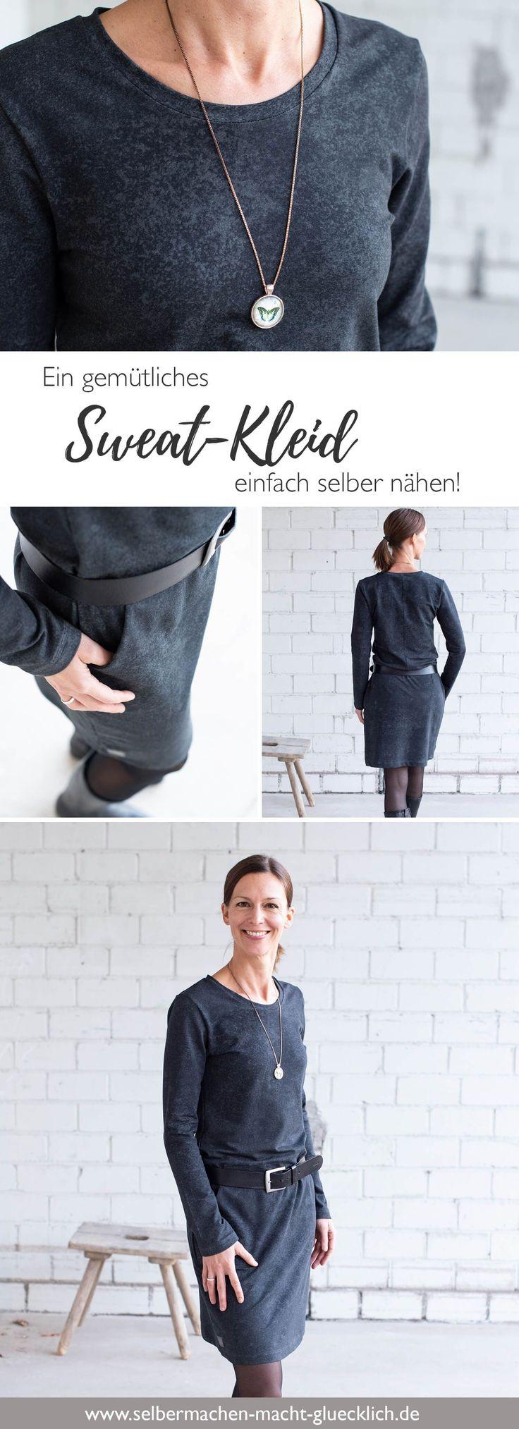 So kannst du dir ein gemütliches Sweatkleid einfach selber nähen! – Miss Rosi – Nähen, DIY, Illustrationen & Design