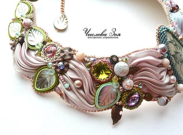 VFL.RU - ваш фотохостинг      COLLIER/necklace - embroidery - soutache - shibori - rivoli
