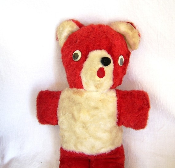 Red Teddy Bear - just like my hubby's except his was blue!