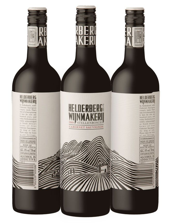 Helderberg Wijnmakerij,wine label design.