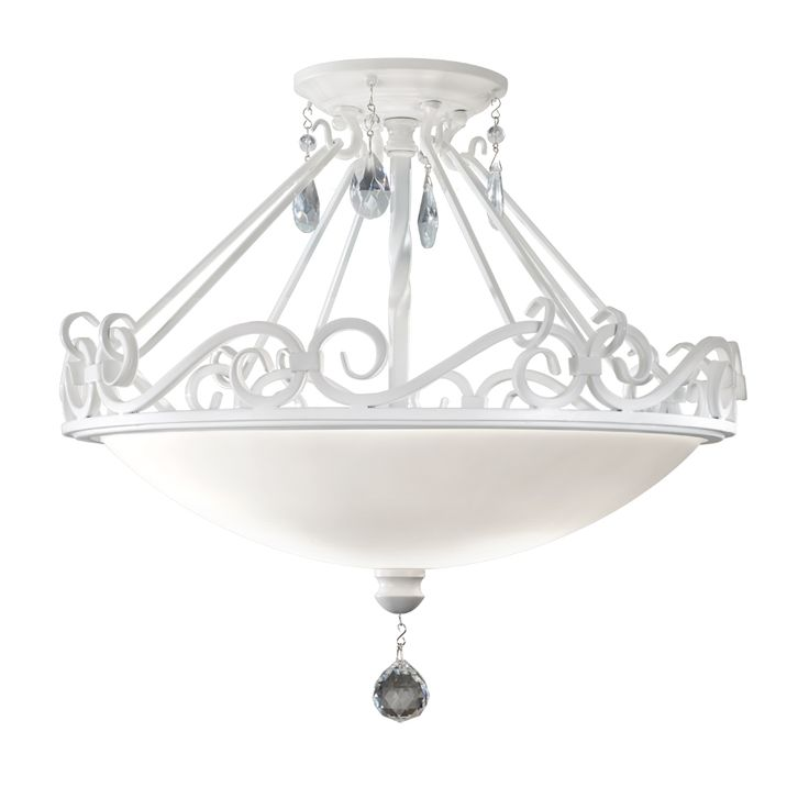 Chateau Blanc Collection By Feiss: 2 Light Indoor Semi Flush Mount. #