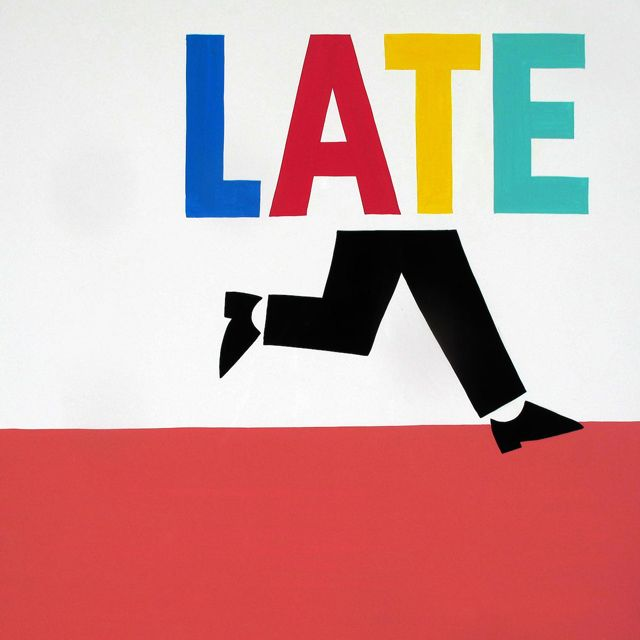 Running Late, A Clever Art Print by Steve Powers Reminds me of Saul Bass' style.