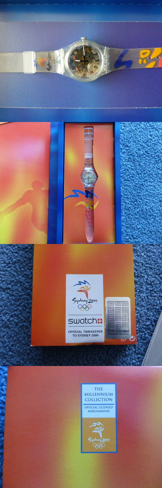 """Other Jewelry and Watches 98863: Sydney 2000 Olympics """"The Millennium Collection Swatch Watch - Vintage Nib Nev -> BUY IT NOW ONLY: $34 on eBay!"""